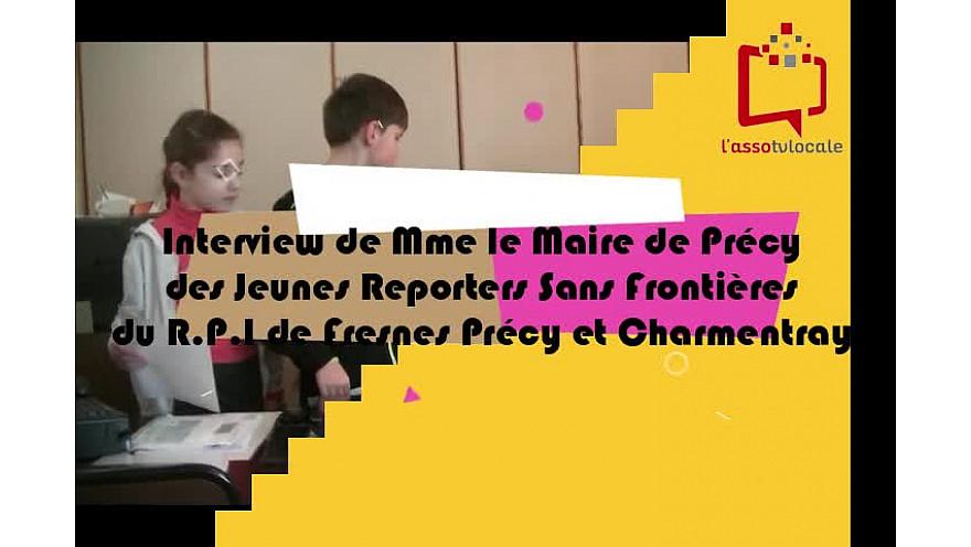 Mme Le Maire de Précy reçoit les Jeunes Reporters Sans Frontières du RPI de Fresnes, Précy et Charmentray, Seine-et-Marne #tvlocale #localinfo